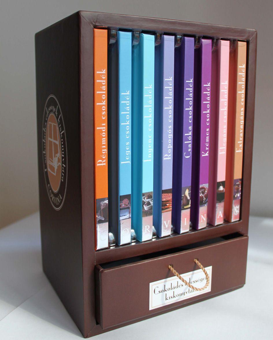 - - Csokoládés édességek kiskönyvtára - 8 kötet díszdobozban