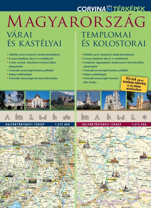 - - Magyarország várai és kastélyai / Magyarország templomai és kolostorai - duótérkép